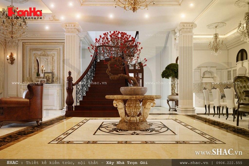 Nội thất phòng khách cổ điển đẹp