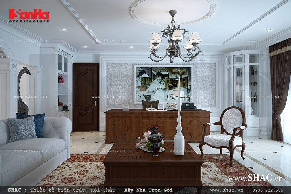 Nội thất phòng khách cổ điển đơn giản
