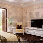 phòng ngủ với nội thất cổ điển châu âu, nội thất phòng ngủ kiểu pháp đẹp