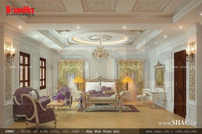 Choáng ngợp với không gian phòng ngủ có thiết kế nội thất kiểu Pháp xa hoa