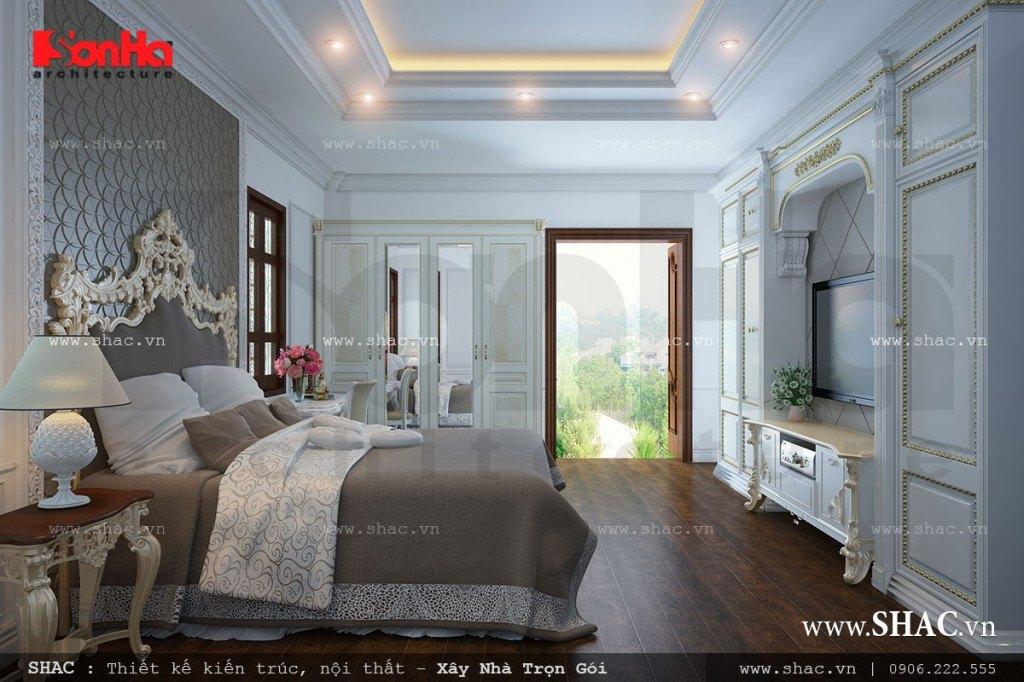 Nội thất phòng ngủ sang trọng kiểu Pháp đẹp