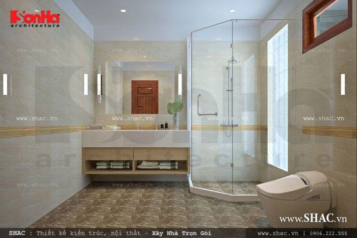 Thiết kế nội thất phòng tắm WC đẹp và tiện nghi