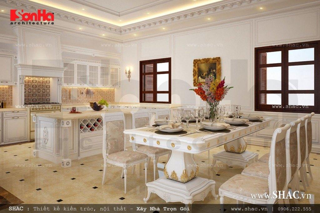 Phòng ăn đẹp cho biệt thự kiểu Pháp