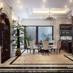 Phòng ăn đẹp của biệt thự