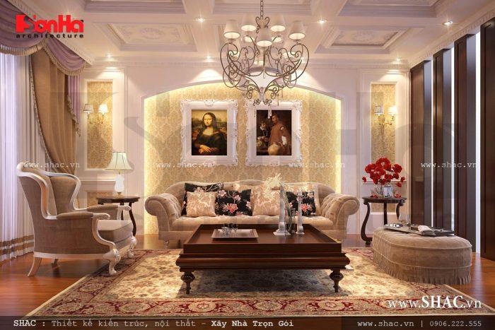 Phòng khách cổ điển, phòng khách kiểu pháp