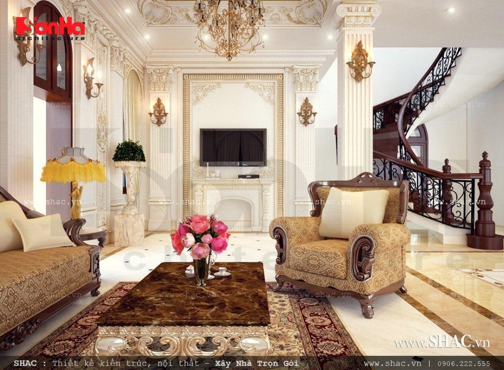 Phòng khách cổ điển sang trọng và đẳng cấp