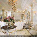 Nội thất phòng khách đẹp, bàn nghế phòng khách kiểu cổ điển pháp