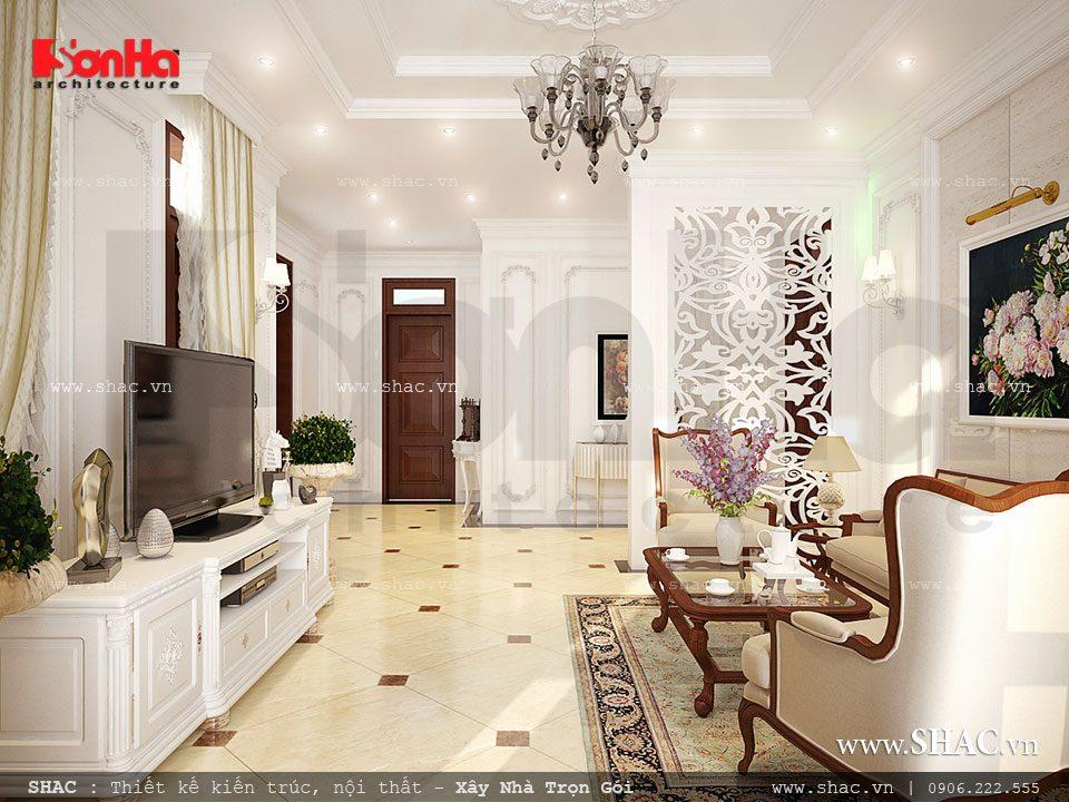 Phòng khách kiểu Pháp