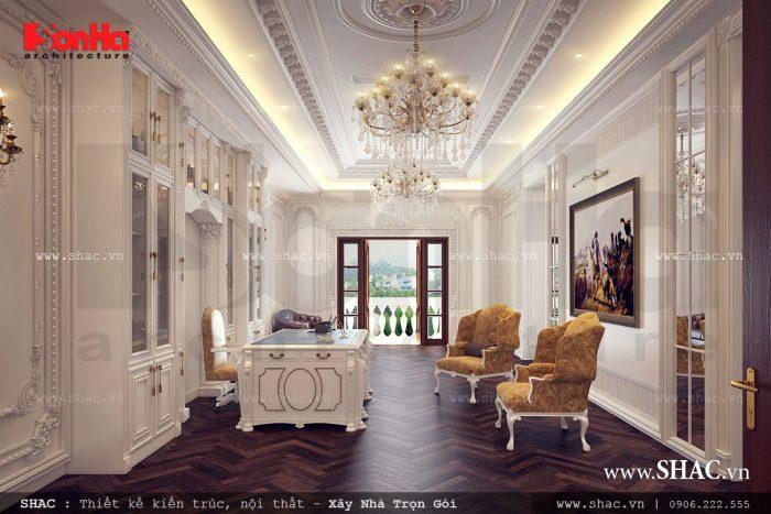 Mẫu thiết kế phòng làm việc đẳng cấp yên tĩnh và thoáng mát cho hiệu quả công việc cao