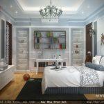 Phòng ngủ cho người thích đọc sách