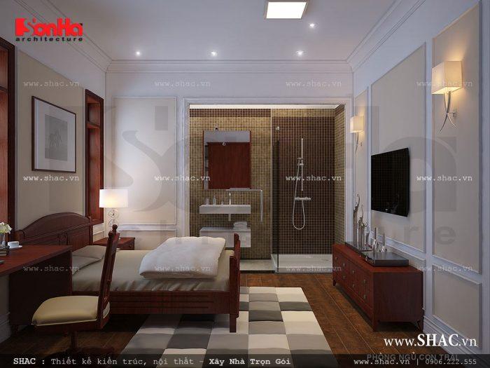 Nội thất phòng ngủ cho con trai được lên phương án thiết kế sang trọng