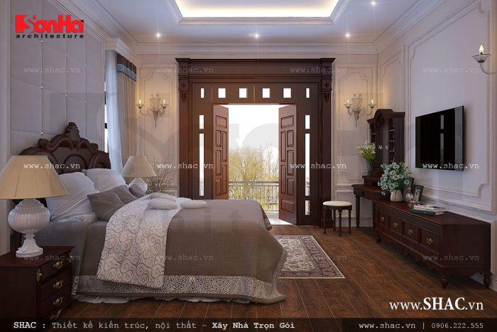 Mẫu phòng ngủ có thiết kế nội thất hiện đại tiện nghi