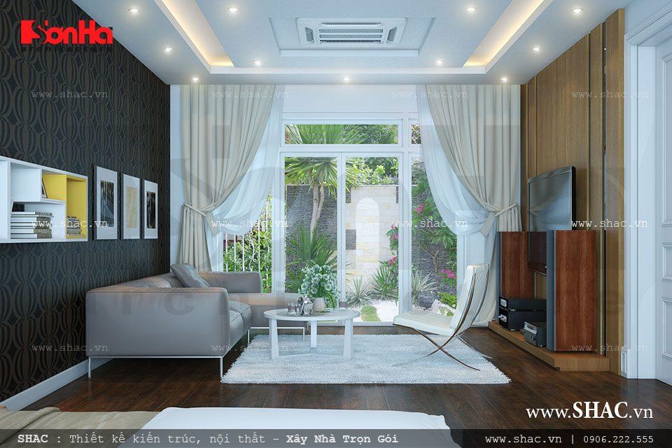 Phòng ngủ đẹp và thoáng cho biệt thự hiện đại
