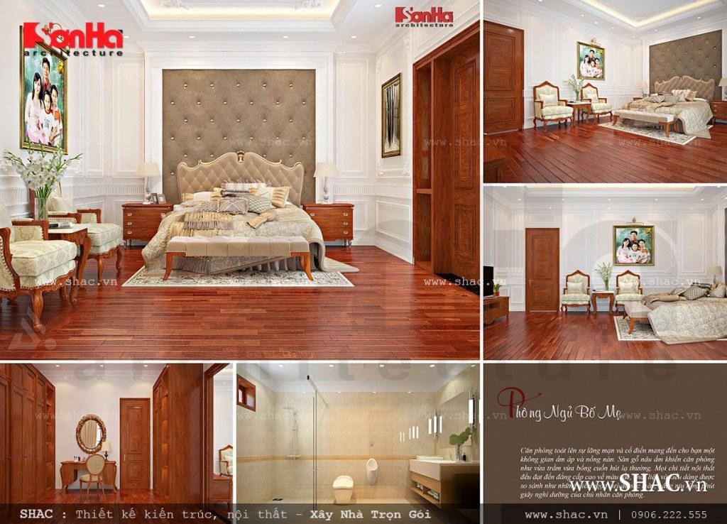 Phòng ngủ đẹp với nội thất gỗ