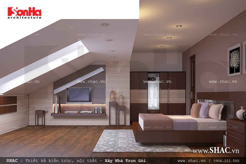 Biệt thự hiện đại 3 tầng tại Kiên Giang - BTD 0016 18