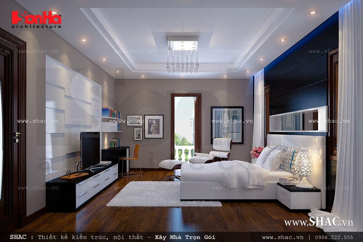 Kiến trúc biệt thự pháp 4 tầng trọn gói - BTLD 0003 8