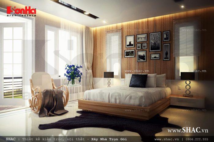 Mẫu nội thất phòng ngủ được thiết kế theo kiểu hiện đại đẹp