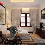 Phòng ngủ kín đáo cho biệt thự Pháp