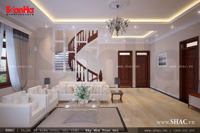 Thiết kế phòng sinh hoạt chung của cả gia đình cho biệt thự hiện đại