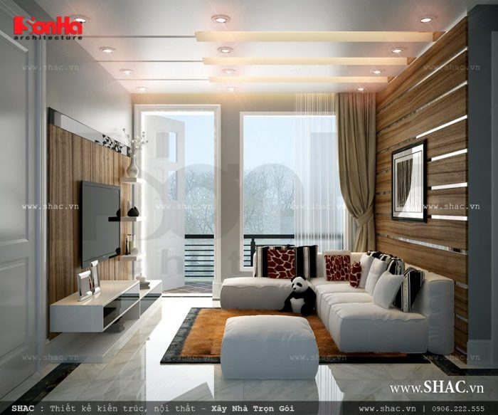 Mẫu thiết kế nội thất phòng sinh hoạt chung đẹp của biệt thự hiện đại