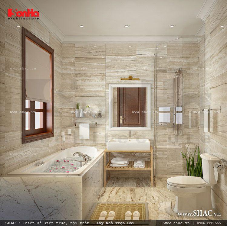 Phòng tắm với nội thất tiện nghi