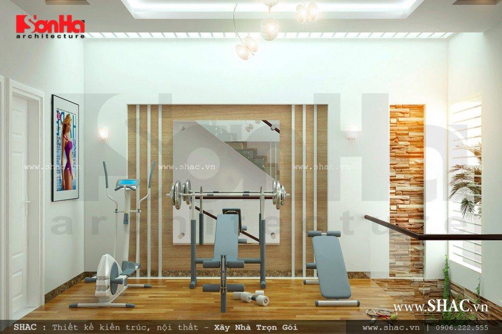thiết kế phòng gym cho gia đình, phòng tập thể hình tại nhà