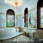 Bản thiết kế phòng vệ sinh wc tiện nghi với đồ nội thất cao cấp