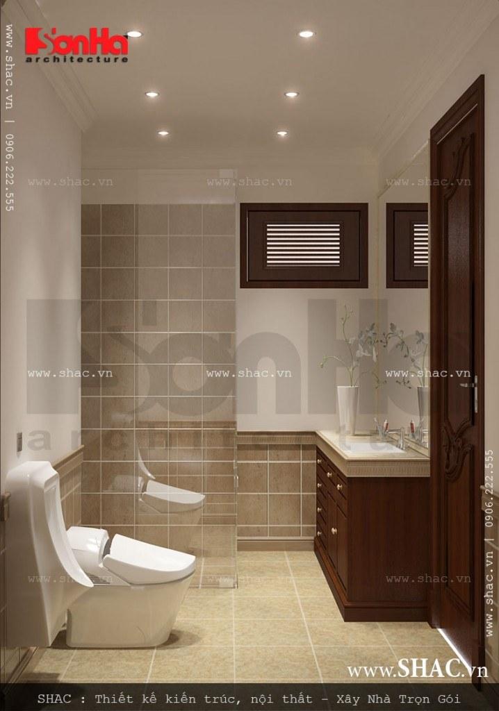 Phòng vệ sinh tiện nghi và sang trọng