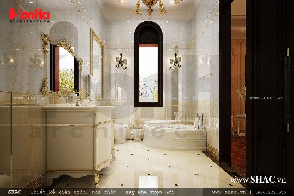 phòng vệ sinh cao cấp, wc cho biệt thự lâu đài