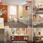Phòng WC biệt thự Pháp