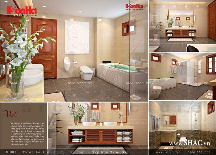 Phòng WC biệt thự Pháp tiện nghi và sang trọng cho không gian sống của gia đình bạn thêm trọn vẹn