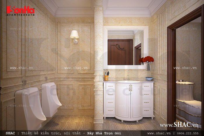 Mẫu phòng wc sang trọng và tiện nghi của biệt thự kiểu Pháp