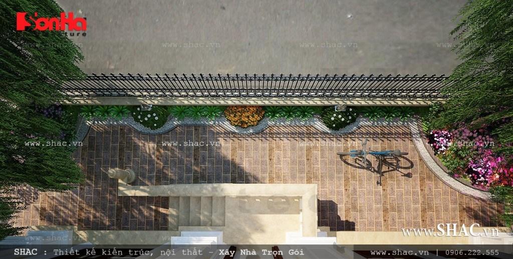 Sân vườn đẹp thiết kế cho biệt thự