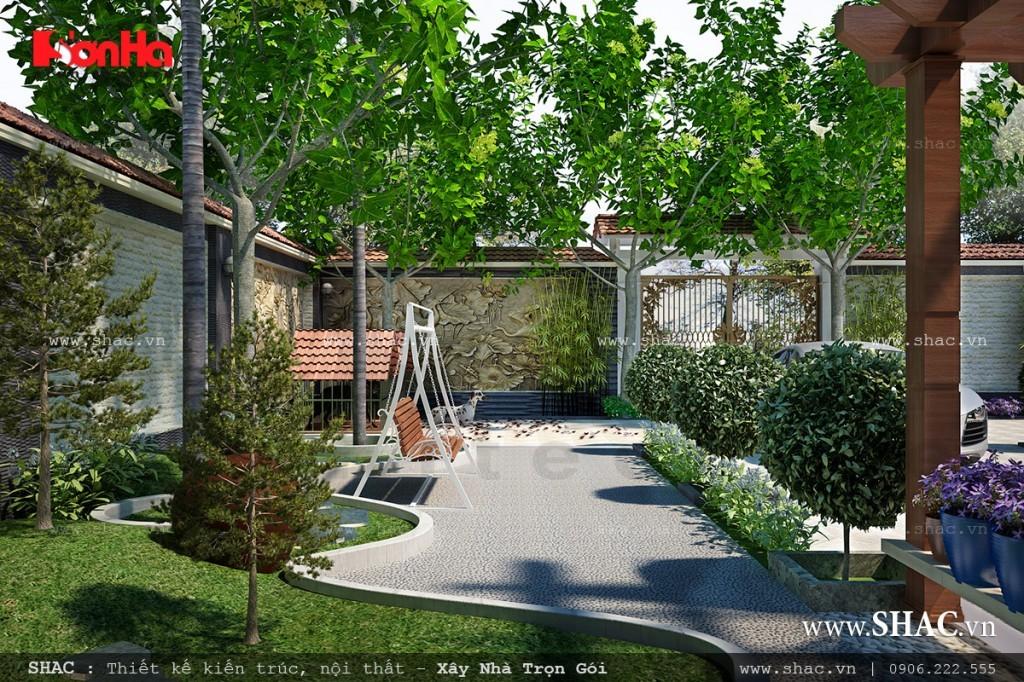 Sân vườn đẹp cho biệt thự