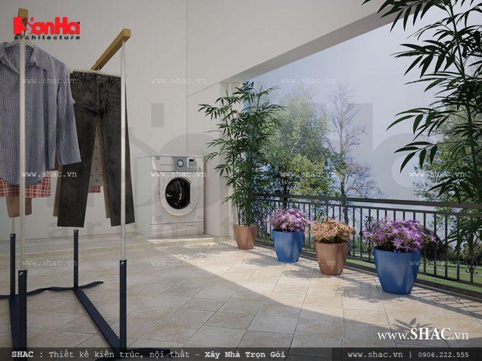 Sân vườn tiểu cảnh đẹp cho không gian sống của ngôi biệt thự thêm phần ý nhị