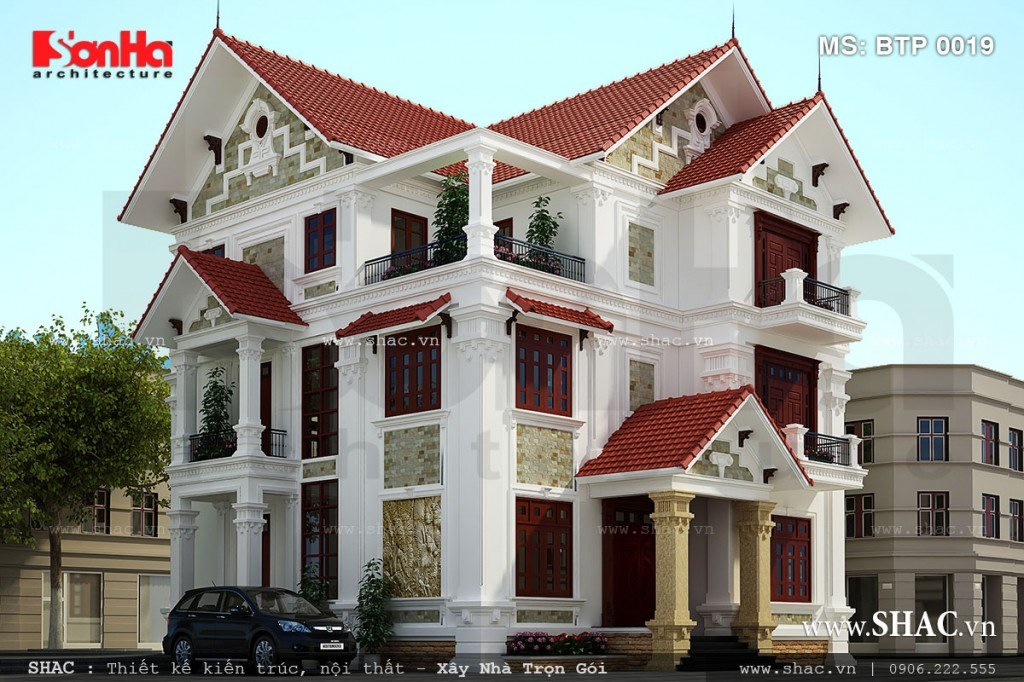Thiết kế biệt thự hiện đại 3 tầng