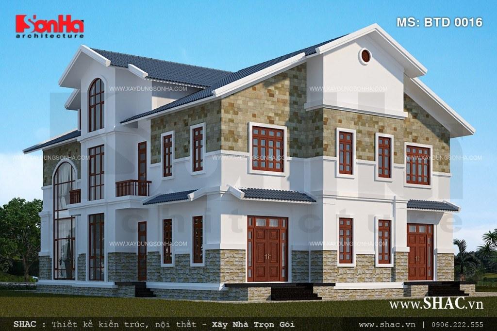 Thiết kế biệt thự kiến trúc hiện đại đẹp