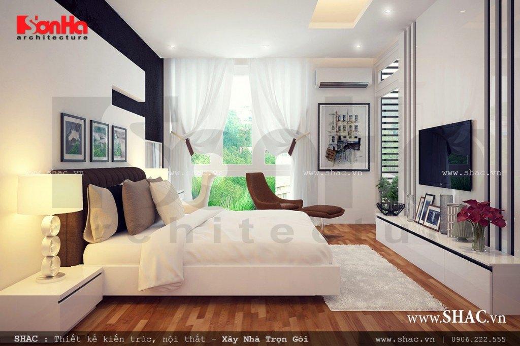 thiết kế nội thất phòng ngủ đẹp, phòng ngủ hiện đại