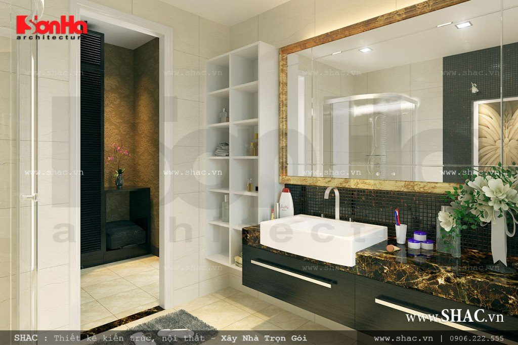 Thiết kế nội thất phòng wc đẹp, phòng tắm đẹp
