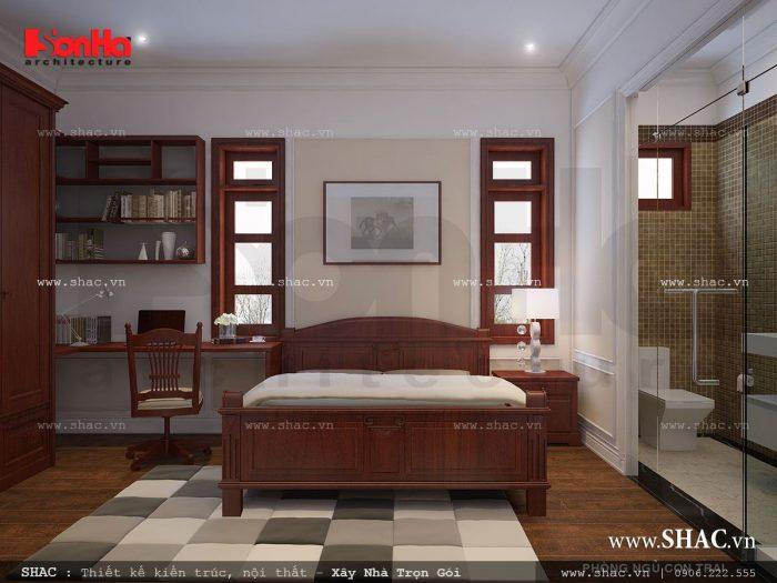 Mẫu thiết kế phòng ngủ đơn giản với nội thất gỗ cao cấp