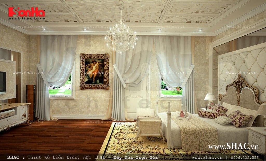 Thiết kế nội thất phòng ngủ cổ điển đẹp
