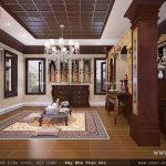 Thiết kế phòng thờ đẹp với nội thất gỗNội thất phòng thờ nghiêm trang BTD 0015