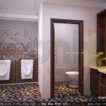 Thiết kế phòng WC chung cho biệt thự