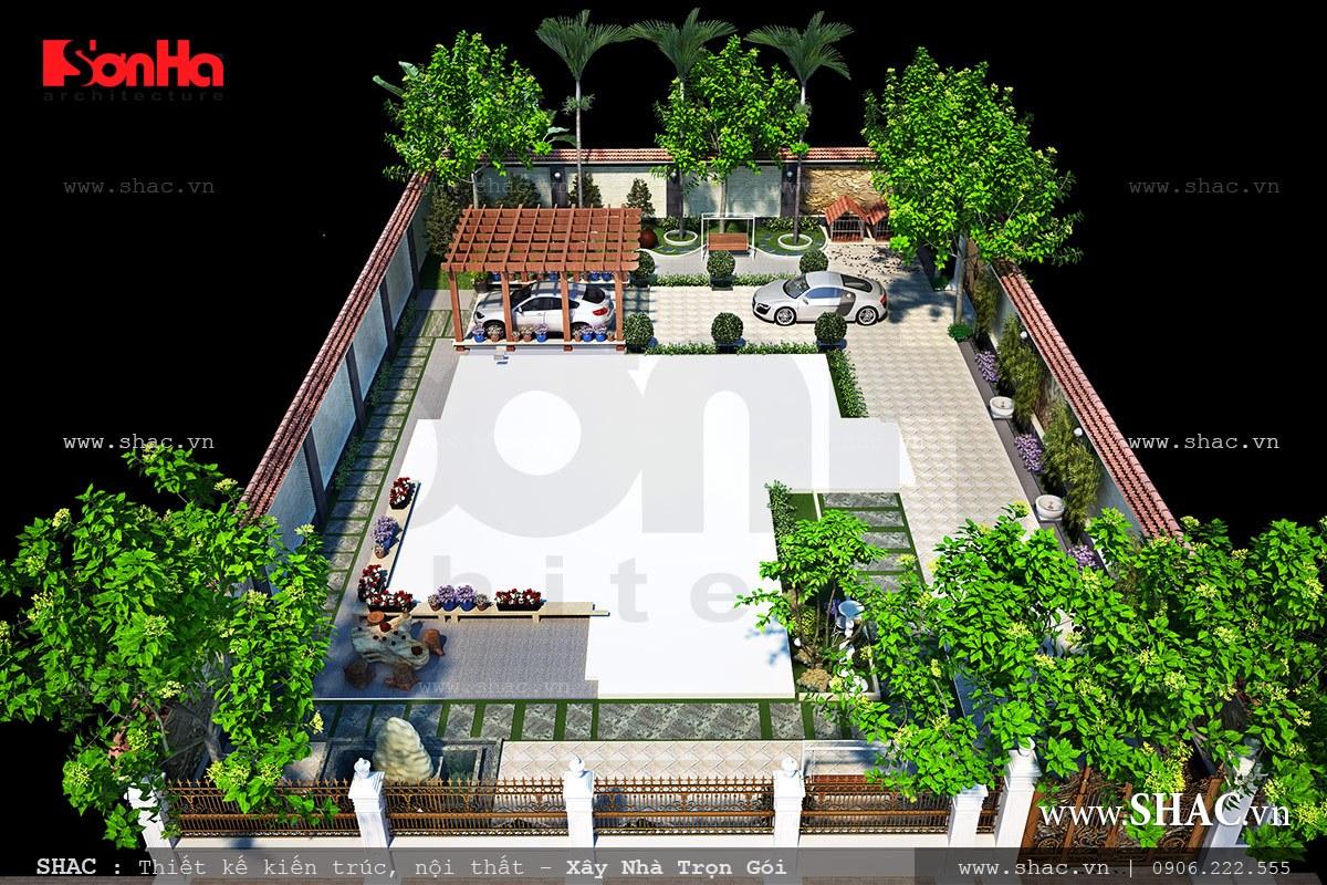 Biệt thự Pháp 3 tầng diện tích 12m x 16m - BTP 0021 12