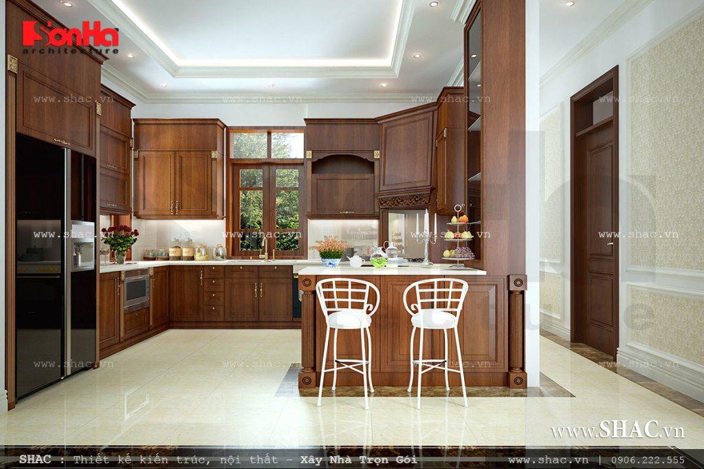 Nội thất bếp gỗ