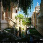 Mẫu tiểu cảnh sân vườn của biệt thự đẹp