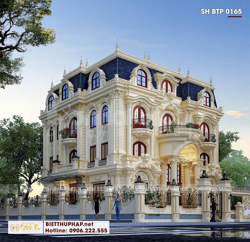 Thiết kế mẫu biệt thự tân cổ điển sang trọng 4 tầng tại Đà Nẵng