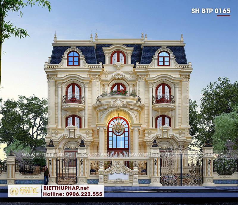 Thiết kế mặt tiền 15,7m của biệt thự tân cổ điển đẹp tại Đà Nẵng