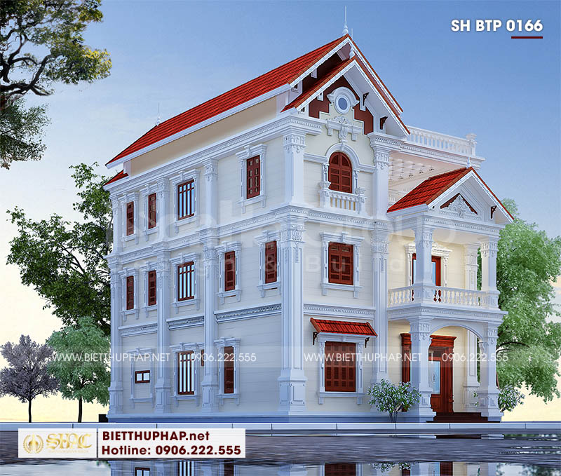Thiết kế biệt thự song lập diện tích 300m2 mặt tiền 15m tại Hải Phòng