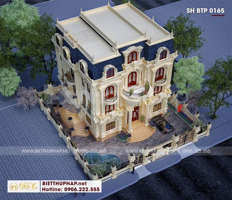 Thiết kế biệt thự tân cổ điển 4 tầng sang trọng tại Đà Nẵng